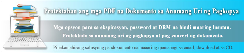 Copy at Print Protection para sa Seguridad ng PDF Documents at Ebooks