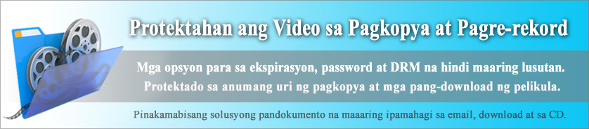 Copy Protection at Rights Management (DRM) para sa Video